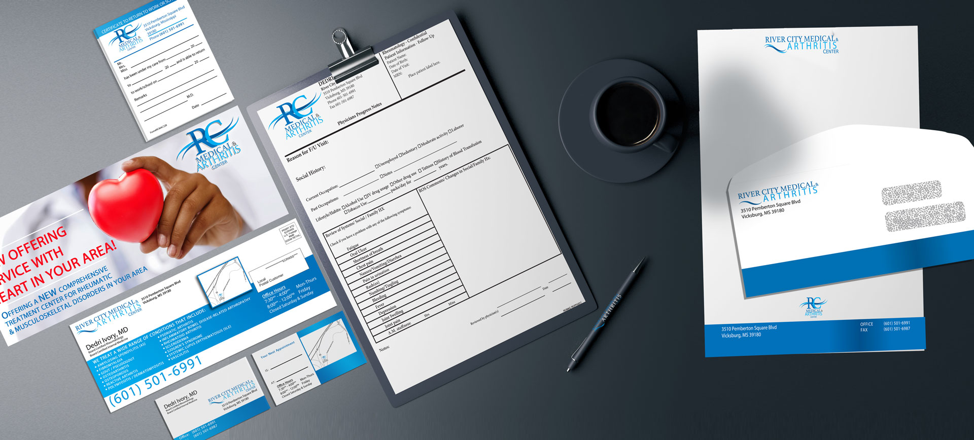 Health Care and Medical Brand Design for River City Medical by Cordavii Brand Consulting