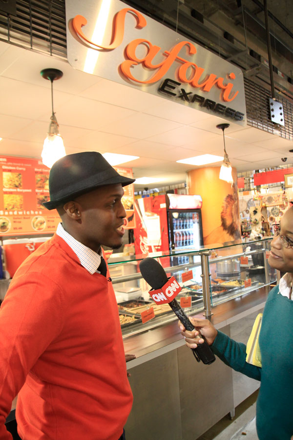 Safari Express founder & Chef Jamal Hashi interviewed by CNN Global