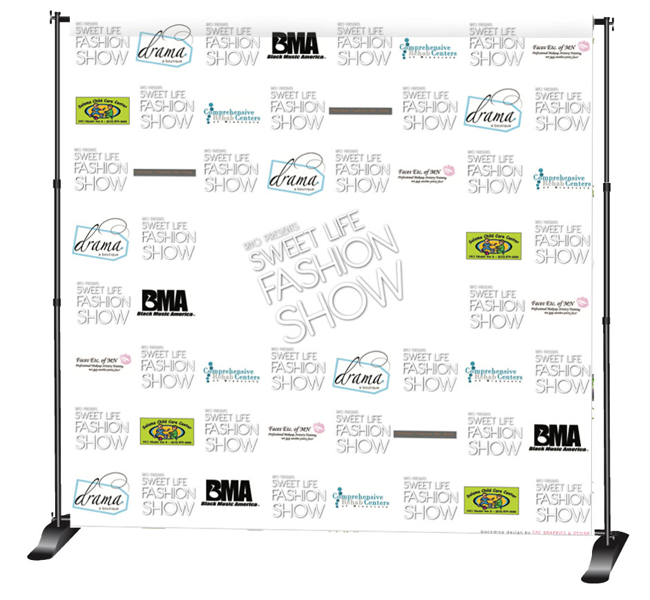 Sweet Life Fashion Show Backdrop
