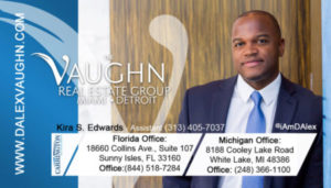 The Vaughn Real Estate Business Card