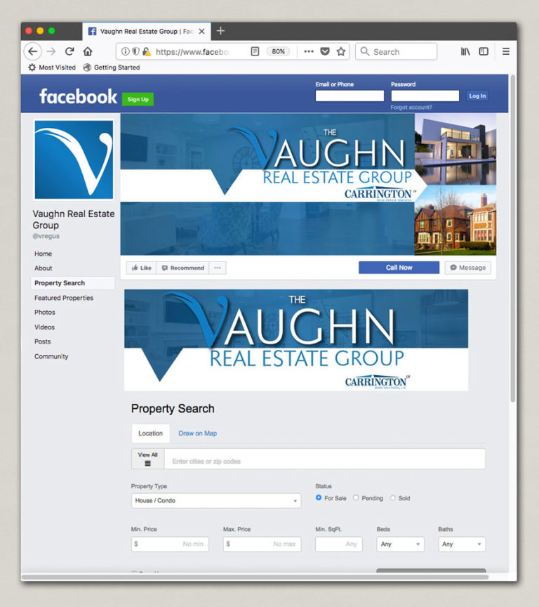 The Vaughn Real Estate Facebook Page