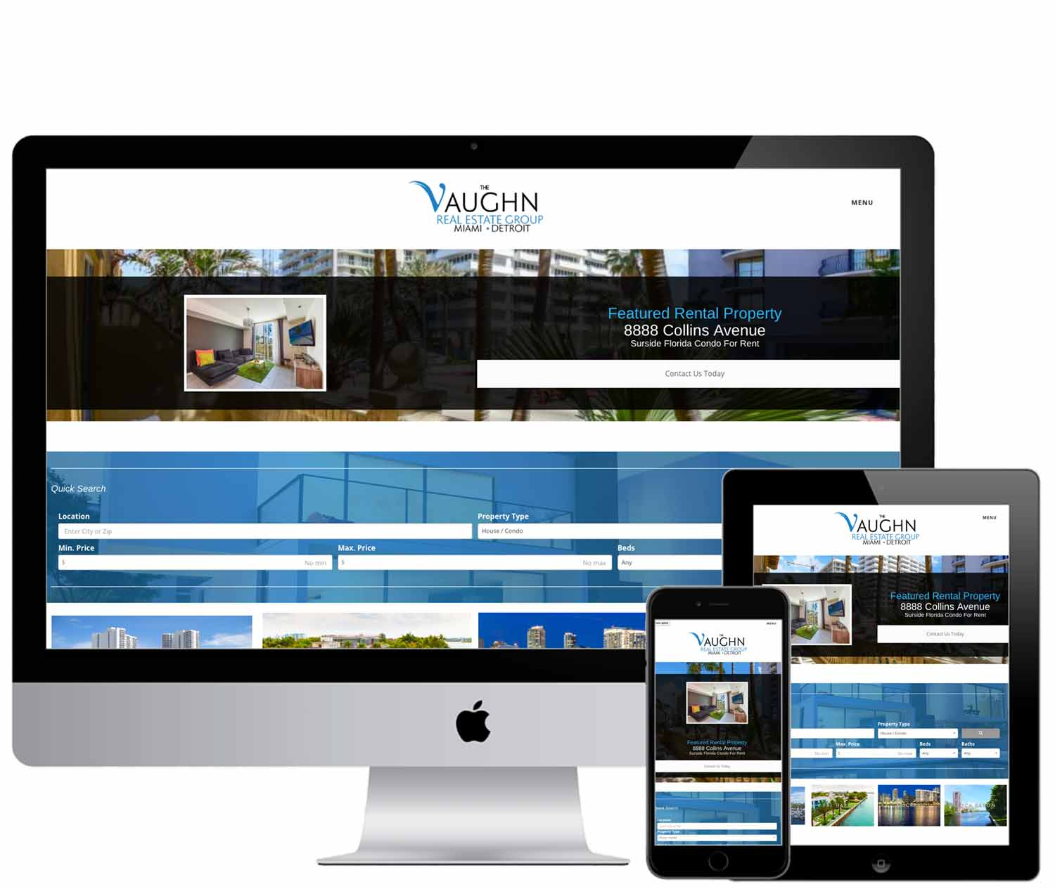 The Vaughn IDX Real Estate Website design