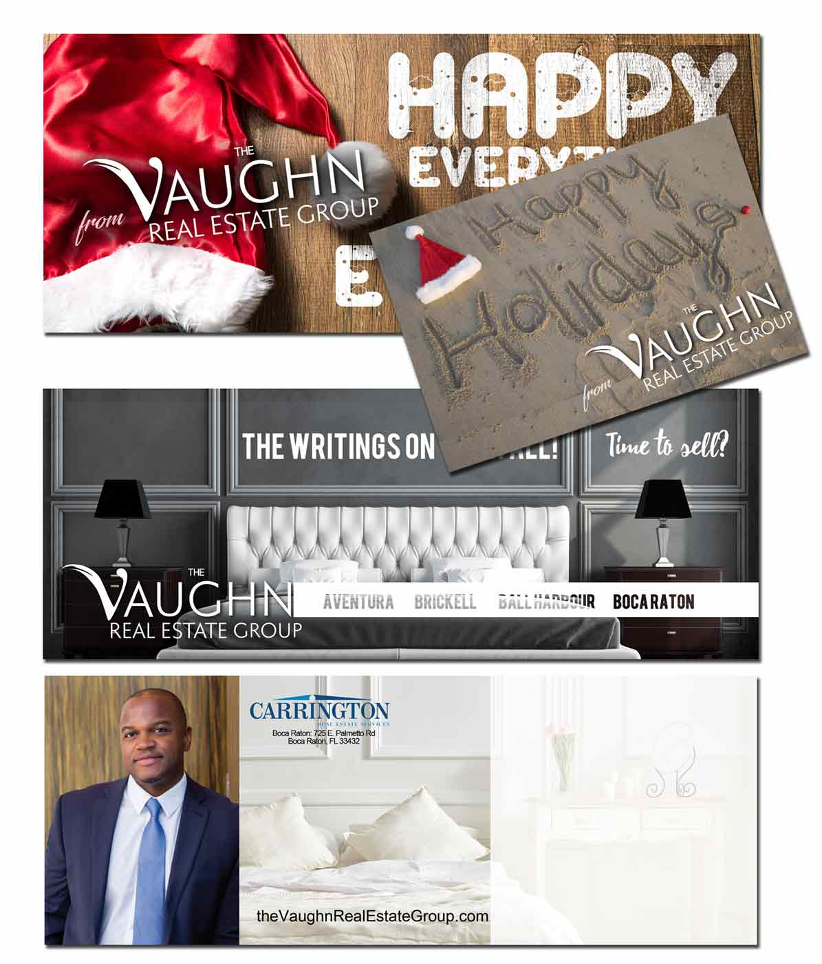 Real Estate Every Day Direct Mail Marketing Pieces for the Vaughn Real Estate Group