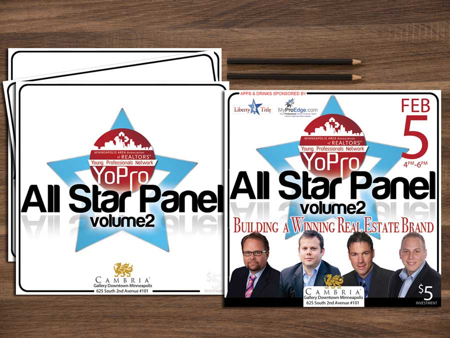 Minneapolis Area Association of Realtors Young Professionals network All Star Panel Marketing