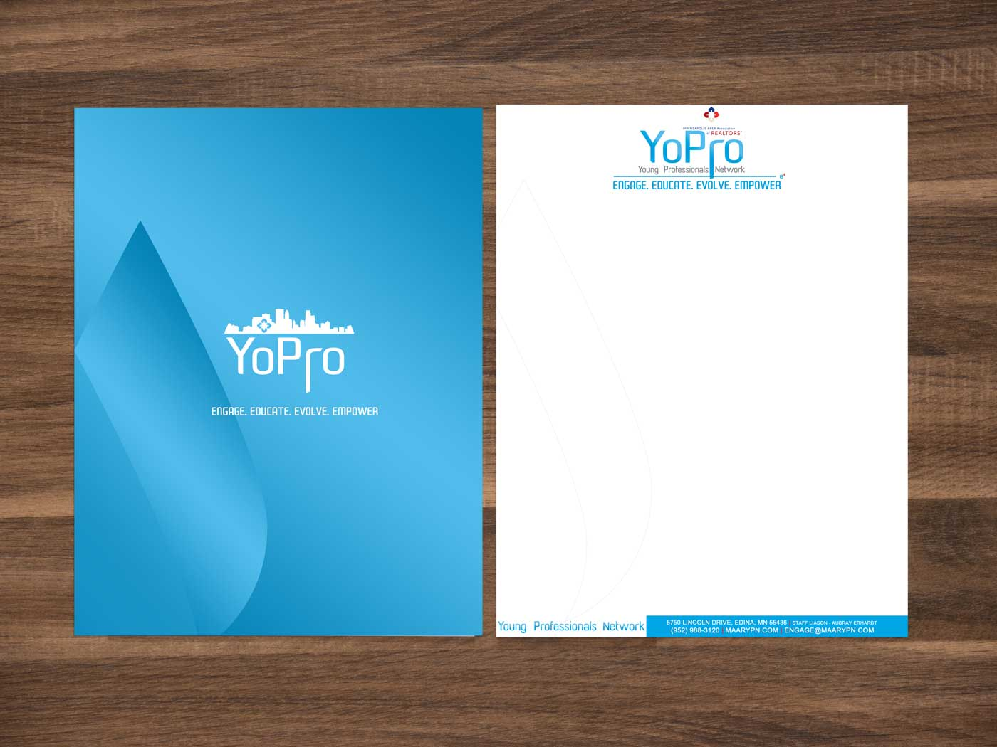 Minneapolis Area Association of Realtors Young Professionals network letterhead