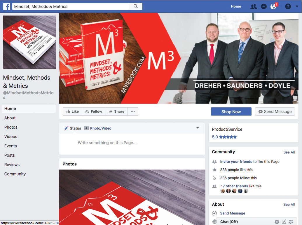Mindset, Methods & Metrics : winning as a modern real estate agent facebook page