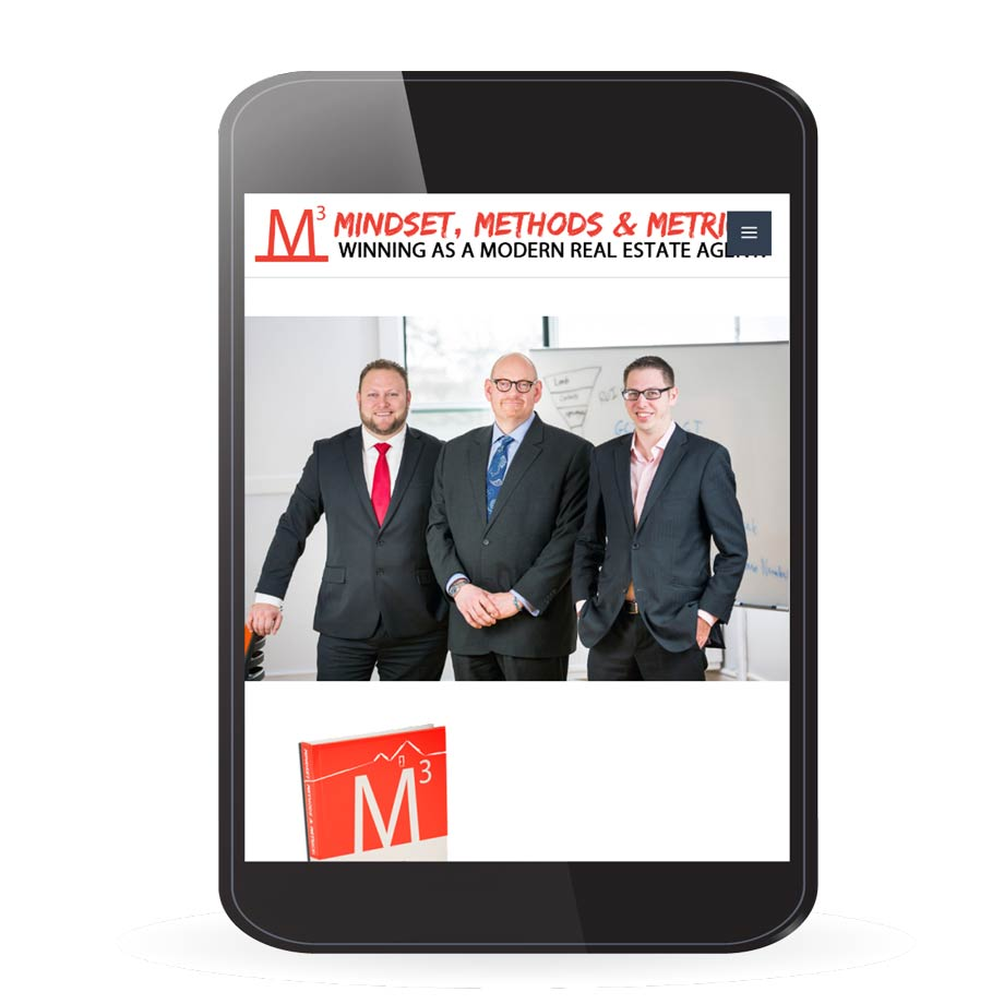 Mindset, Methods & Metrics : winning as a modern real estate agent website via tablet