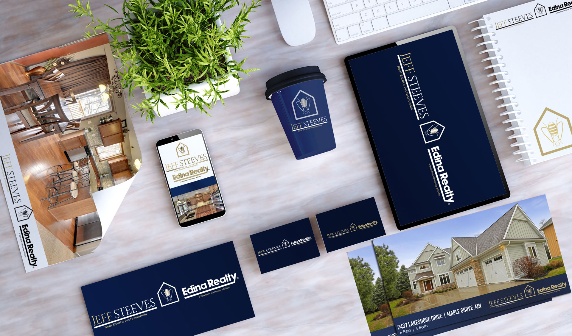 Real Estate Brand Design Mock Up