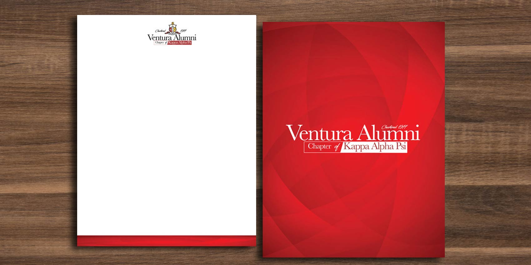 Letterhead Design for the ventura alumni chapter of kappa alpha psi stationary