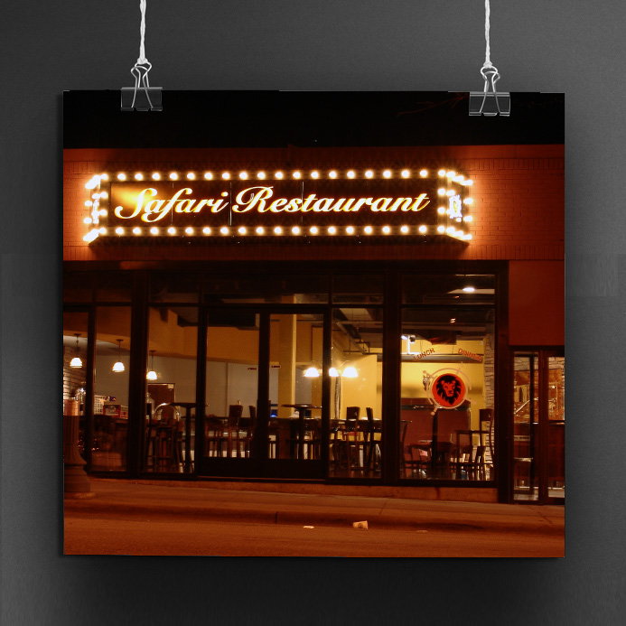 Safari Restaurant Brand Design