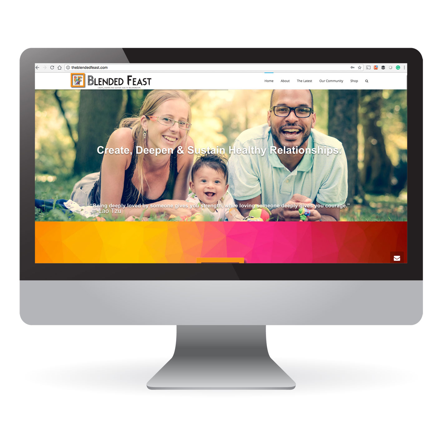 The Blended Feast Non Profit Website Design