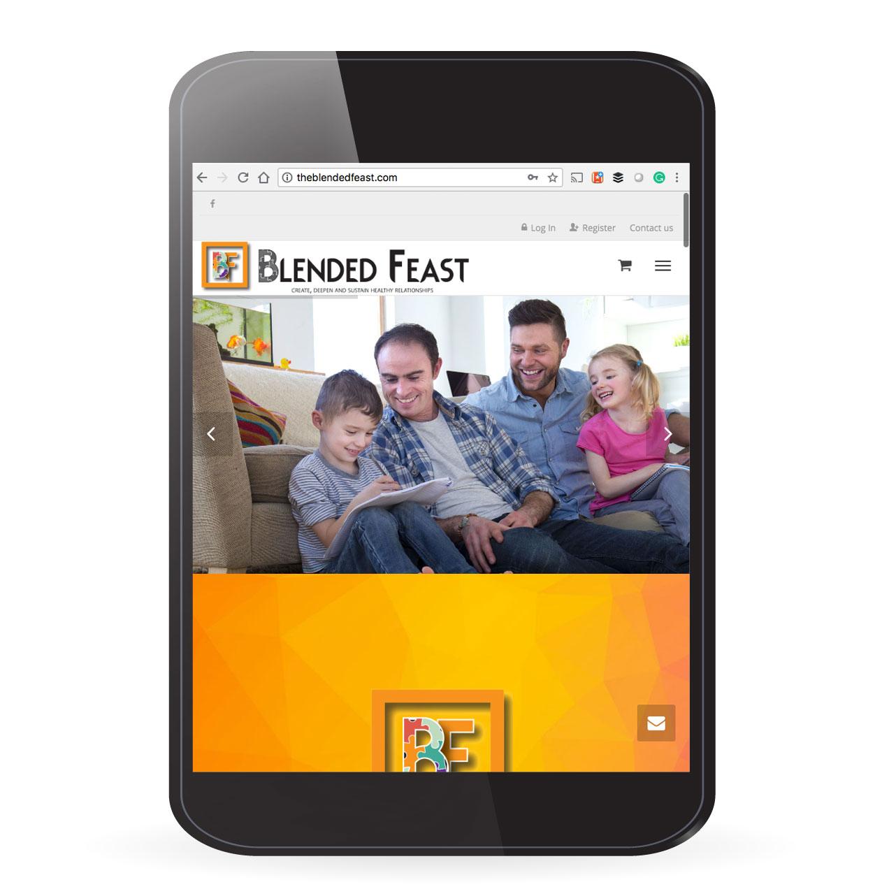 The Blended Feast Non Profit Website Design