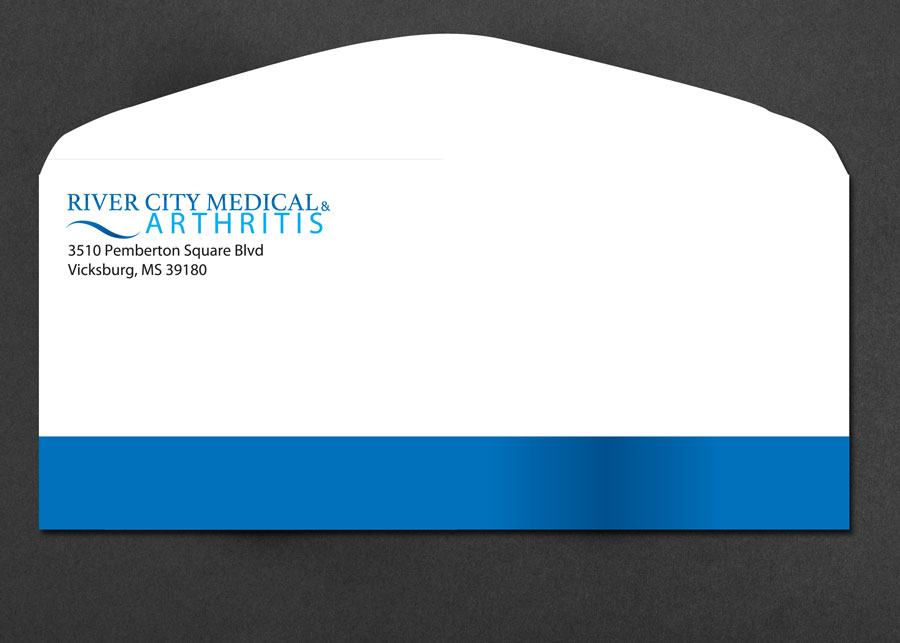 Medical Brand Design Envelope for River City Medical by Cordavii Brand Consulting
