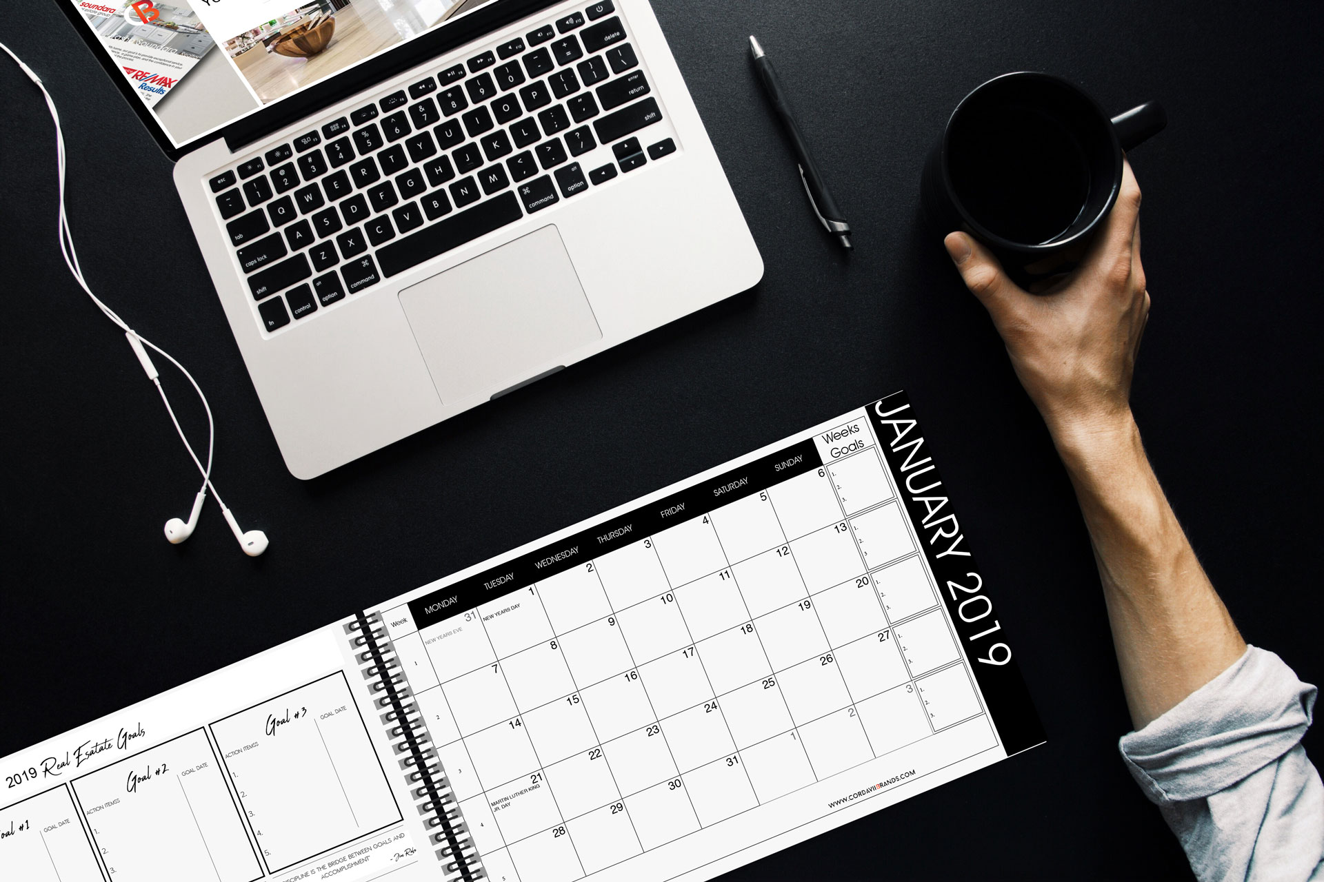 Cordavii Brand Consulting 2019 Real Estate Marketing Calendar