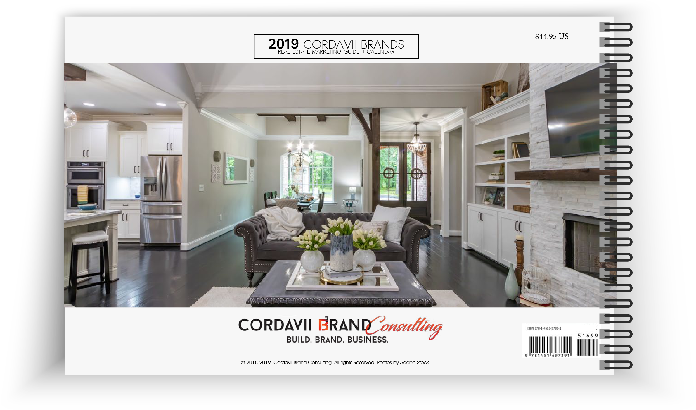 Cordavii 2019 Real Estate Marketing Calendar Back Cover