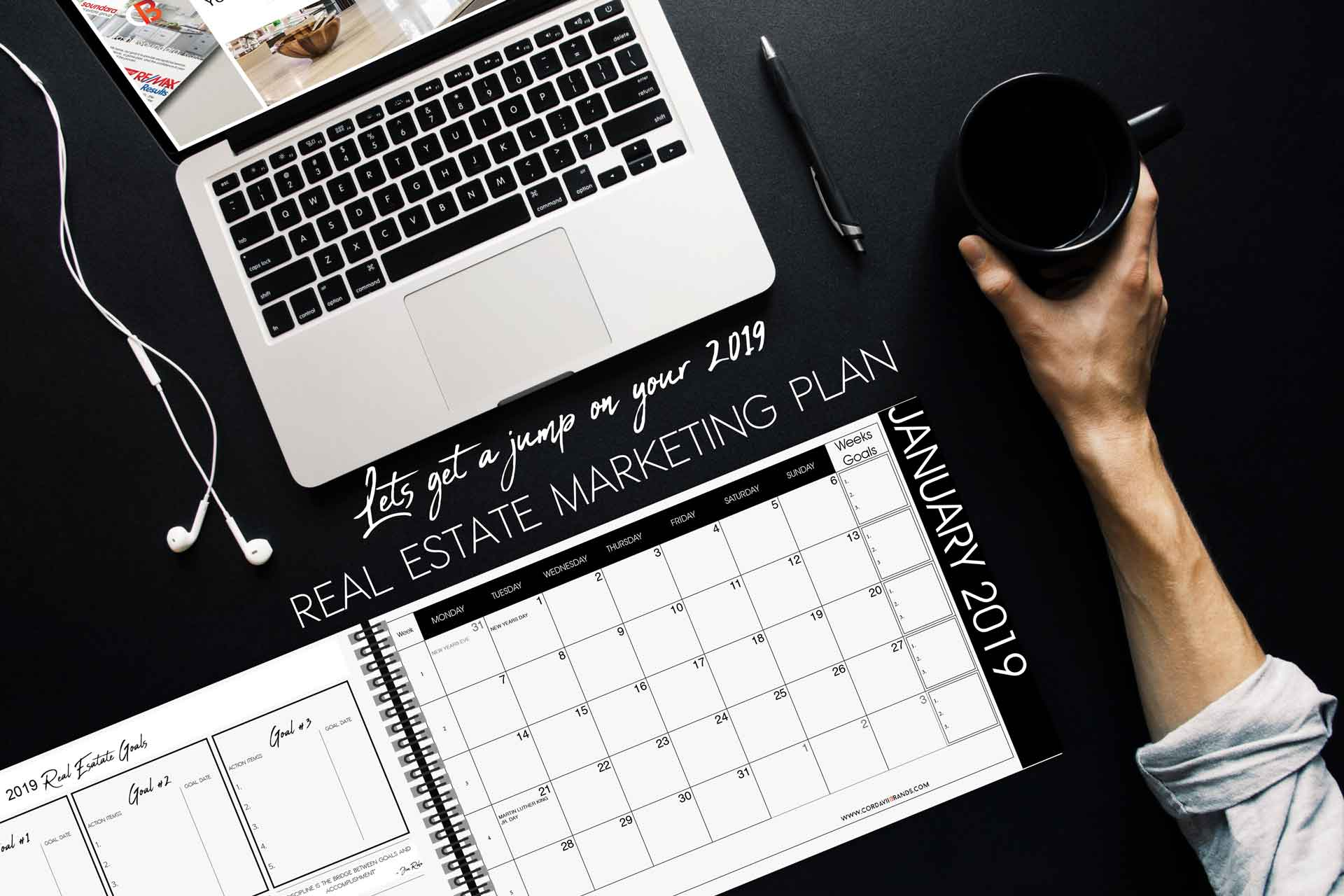 Cordavii Brand Consulting Real Estate Marketing Calendar - Lets get a jump on you 2019 real estate marketing plan.