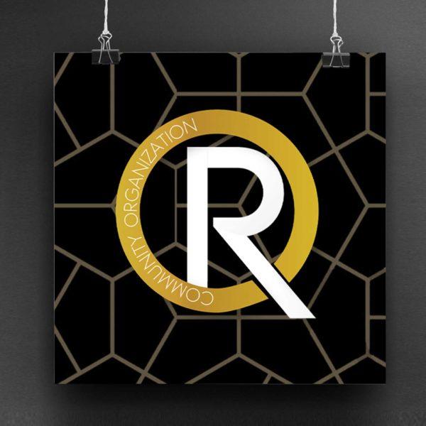 R LIFE Community Organization Non Profit Logo Design