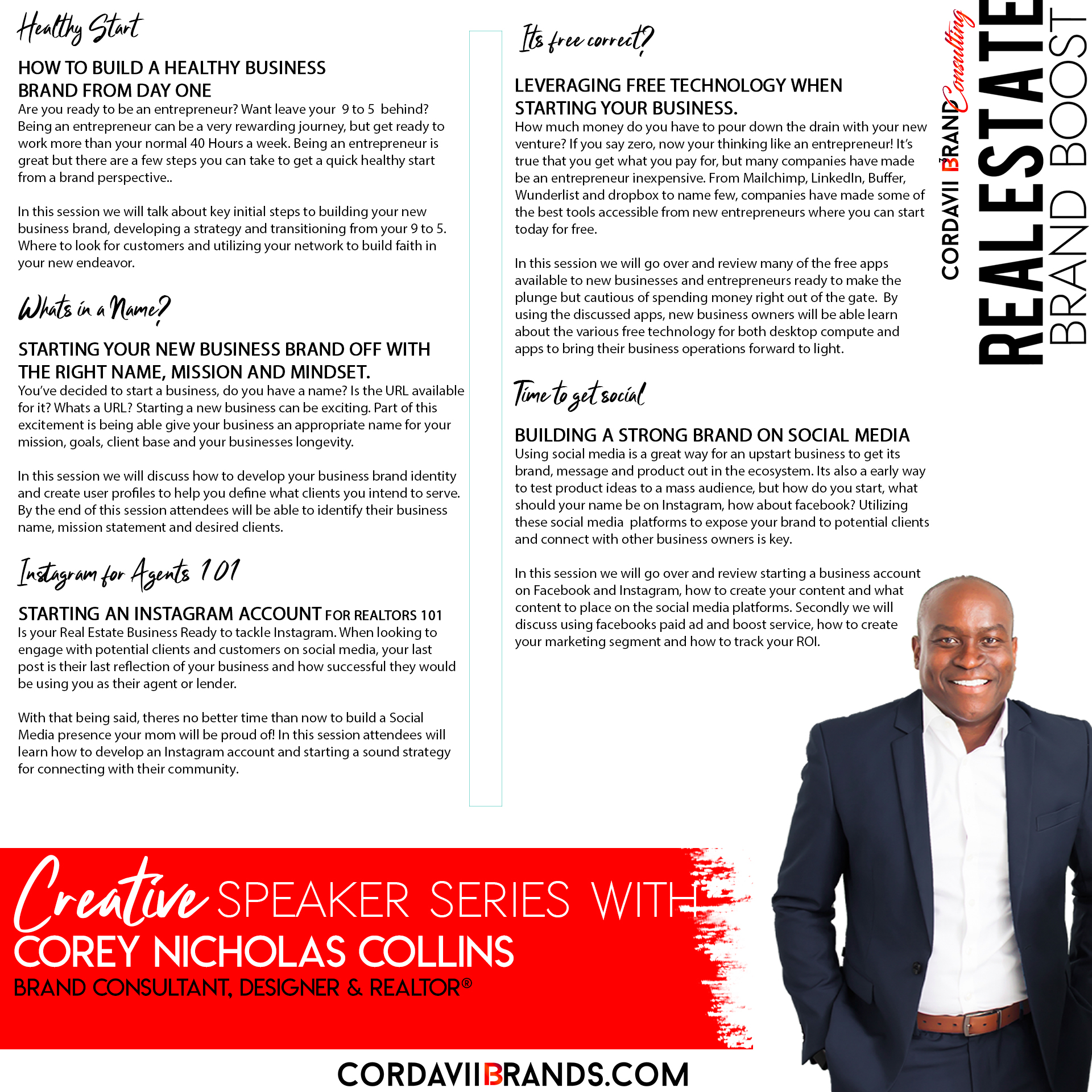 Corey Collins Speaker Series